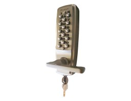 K2100L.KO.60.SC Digital Lock (Levers) w. Key Override - 60mm Backset | Image 1